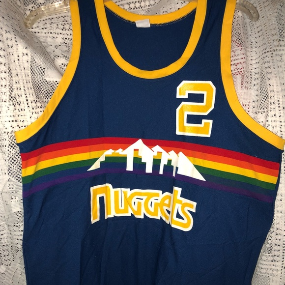 cheap for discount cb988 8a1f4 Vintage 80's Denver Nuggets Basketball Jersey